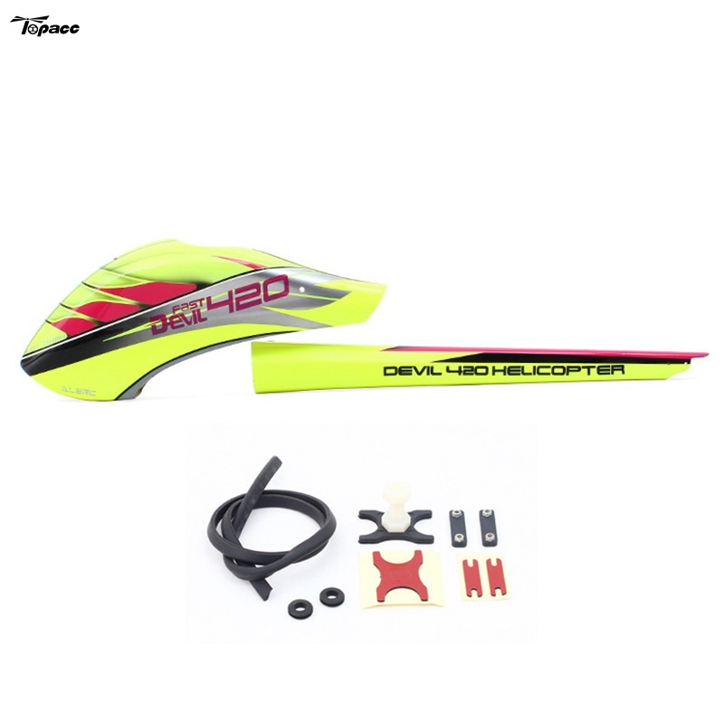 ALZRC Devil 420 FAST Fiberglass Painting Canopy Set For RC Helicopter Parts