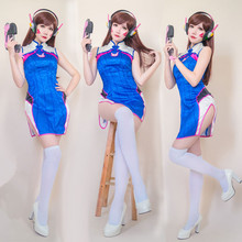 New Anime Clothing Hot Game OW D.VA Chinese dress dva Cheongsam Beautiful Dresses Cosplay Costome A