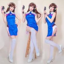 купить New Anime Clothing Hot Game OW D.VA Chinese dress dva Cheongsam Beautiful Dresses Cosplay Costome A по цене 3556.16 рублей