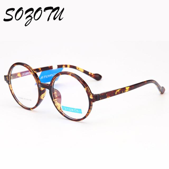 Retro Rodada Óculos Ópticos Óculos de Armação Armação de óculos Mulheres Computador Óculos Claros Decorativos Para YQ232 Lente Transparente das Mulheres