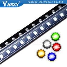 100 шт. 0805 SMD светодиодный светильник желтый красный зеленый синий белый горячая распродажа
