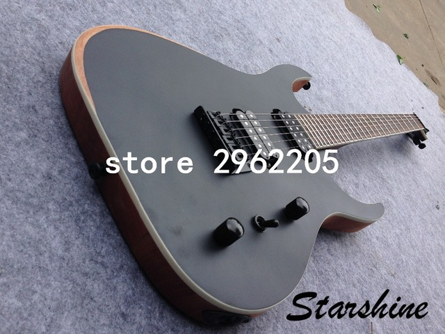 Starhine 7 string electric guitar mahogany body  rosewood fingerboard good quality Free shipping  4