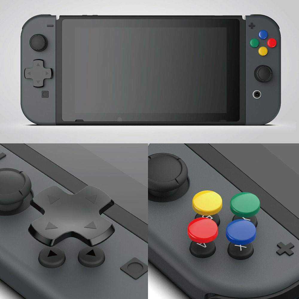 Cross & Circular D-Pad Button Cap Set For Nintendo Switch Joy-con  ABXY Sticker Button Caps Cover For NS NX