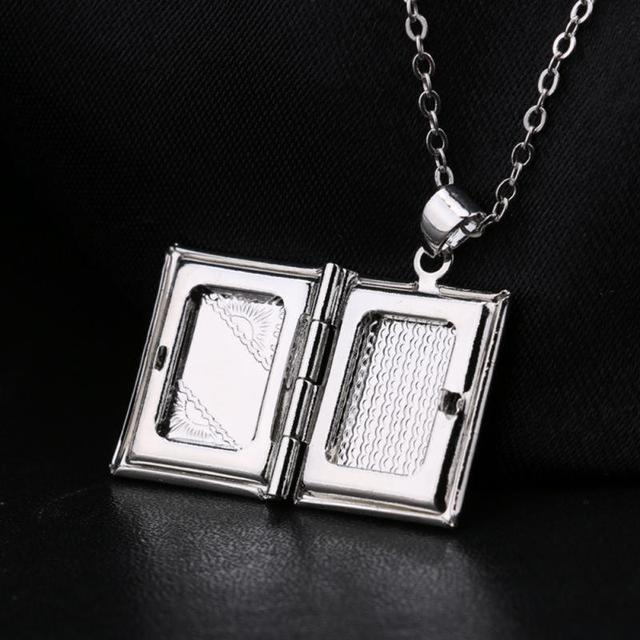 Relatively Womens Mens Jewelry Silver Square Book Photo Locket Pendant For  FY71