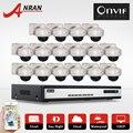 ANRAN 2.0 Megapixel 1080P HD 25fps Vandalproof Dome IR Outdoor Network IP Camera Onvif 16CH NVR CCTV Surveillance System 6TB HDD