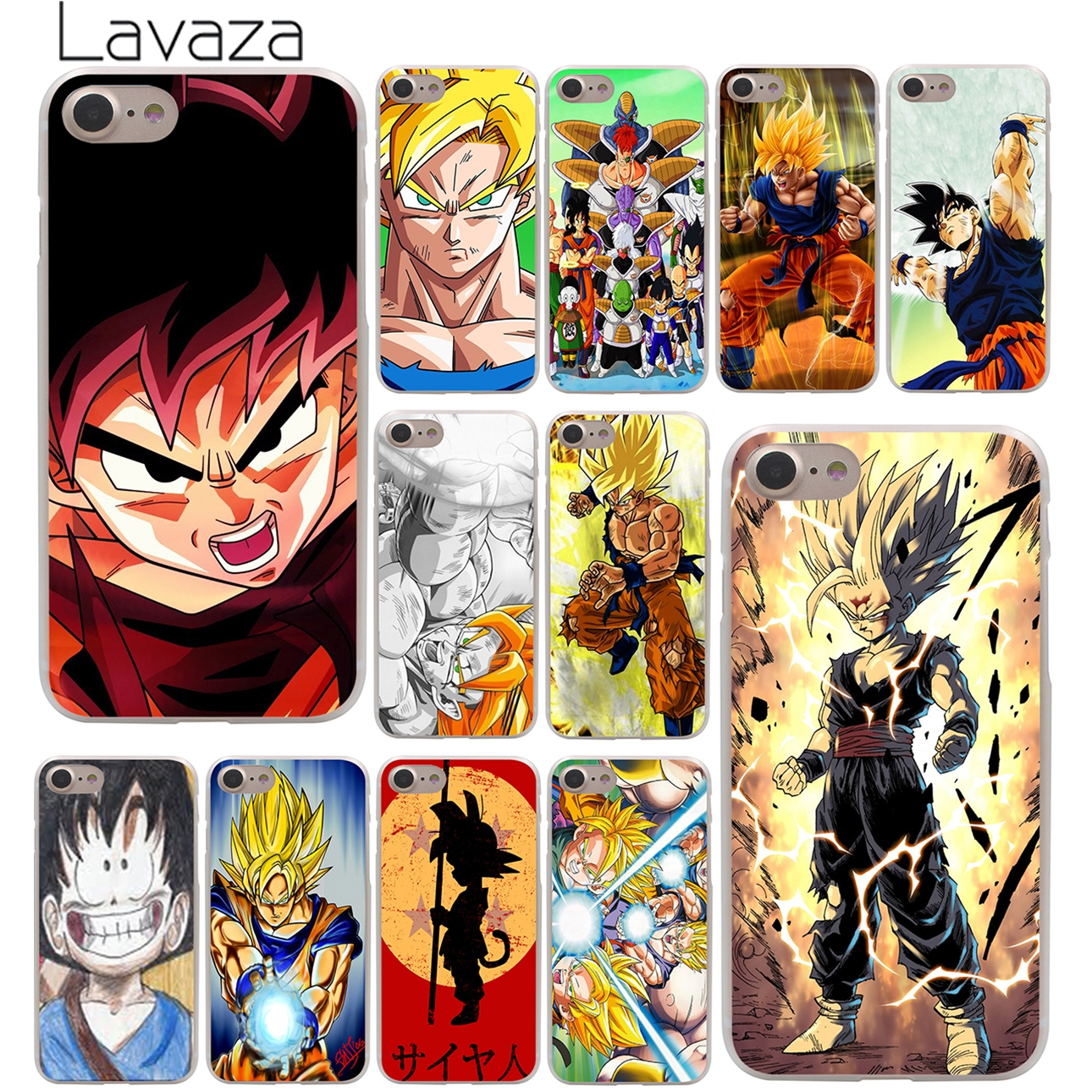Dragon Ball DragonBall z goku Hard Case Transparent for iPhone 7 7 Plus 6 6s Plus 5 5S SE 5C 4 4S