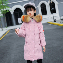 Children Winter Jacket for Girls White Duck Feather Warm Coat for Big Girl Kids Snowsuits Winter 5-14years  Kids Down Jacket цена 2017