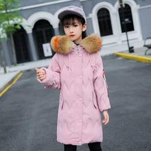 Children Winter Jacket for Girls White Duck Feather Warm Coat Big Girl Kids Snowsuits 5-14years  Down
