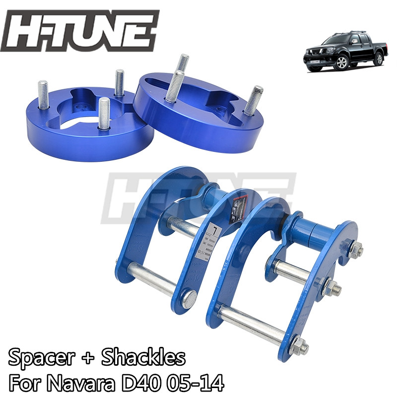 H-TUNE 4x4 Accesorios 2 Front Spacer and Rear Shackles Lift Up Kits 4WD For Navara D40 05-14H-TUNE 4x4 Accesorios 2 Front Spacer and Rear Shackles Lift Up Kits 4WD For Navara D40 05-14
