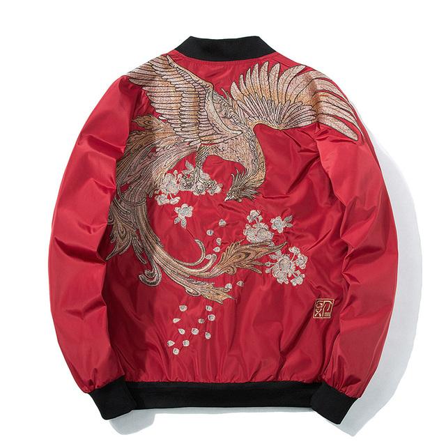 Aelfric Eden 2018 Spring High Street Phoenix Embroidery Jacket Coat Plus Size Casual Outwear Hip Hop Bomber Jackets XS-XXXL LQ05