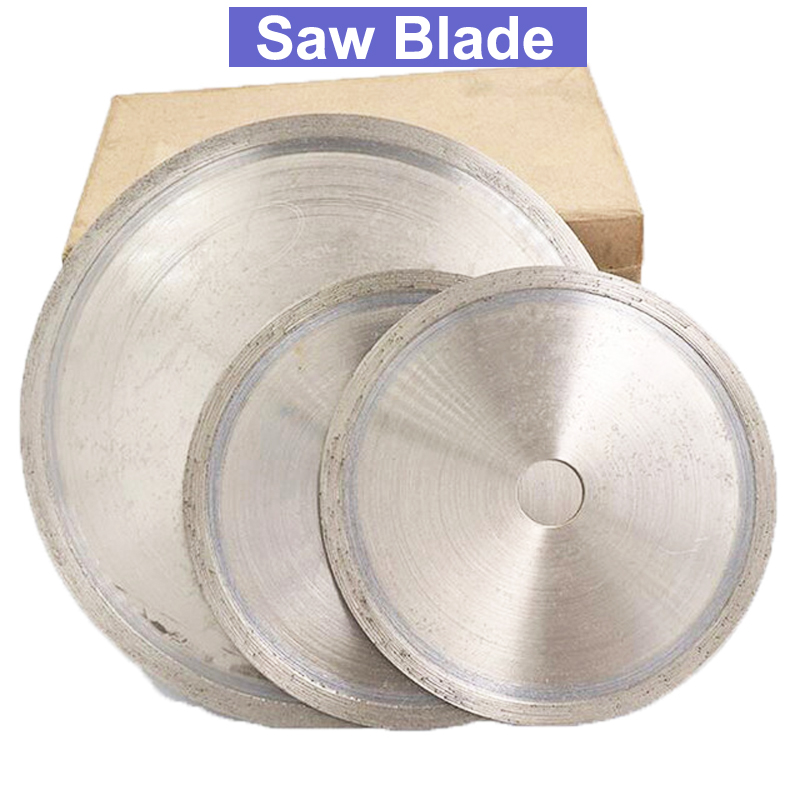 URANN 110mm 150mm 160mm 200mm 250mm 300mm 400mm Diamond Saw Blade Wheel Cutting Disc For Jade Gemstone Crystal Agate Cutting