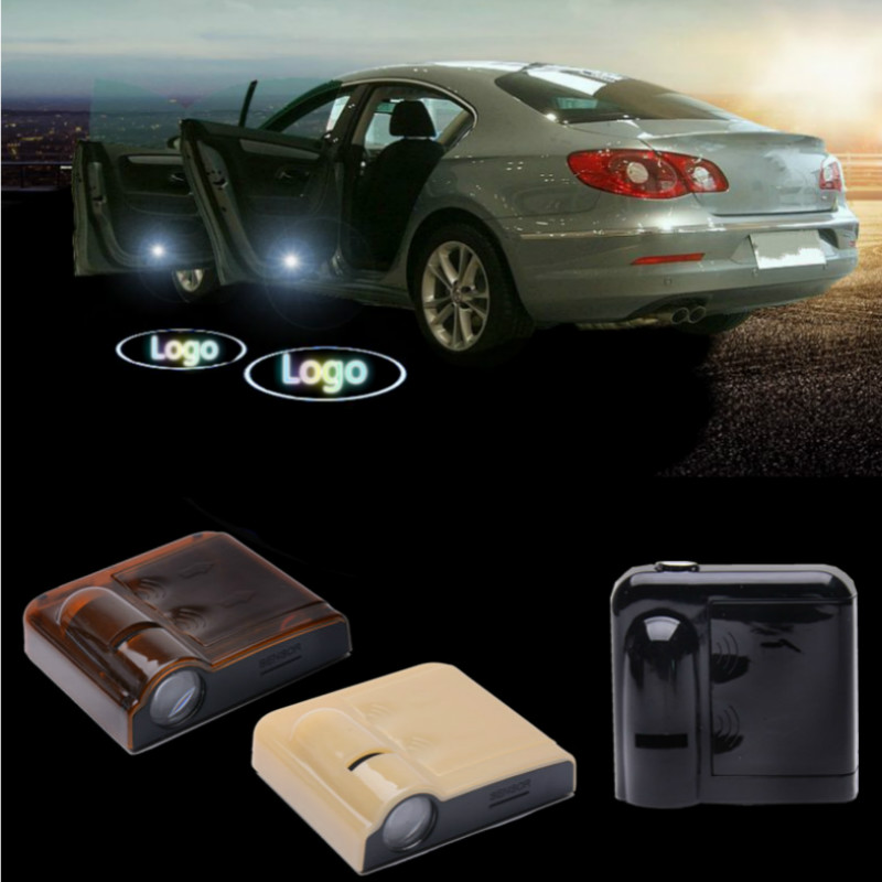 JURUS 2 X LED car door light ghost shadow welcome light logo projector emblem Wireless No Drilling for Citroen c2 c3 c4 c5 xsara for skoda octavia led 3w welcome car door logo lights projector laser ghost 3d shadow accessories original door light replace