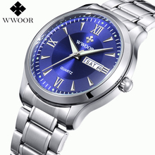 Новый Luxury Brand Дата День мужские Часы Мужчины Водонепроницаемый Мужские Часы Из Нержавеющей Стали Бизнес Часы Кварцевые Наручные Часы Montre Homme
