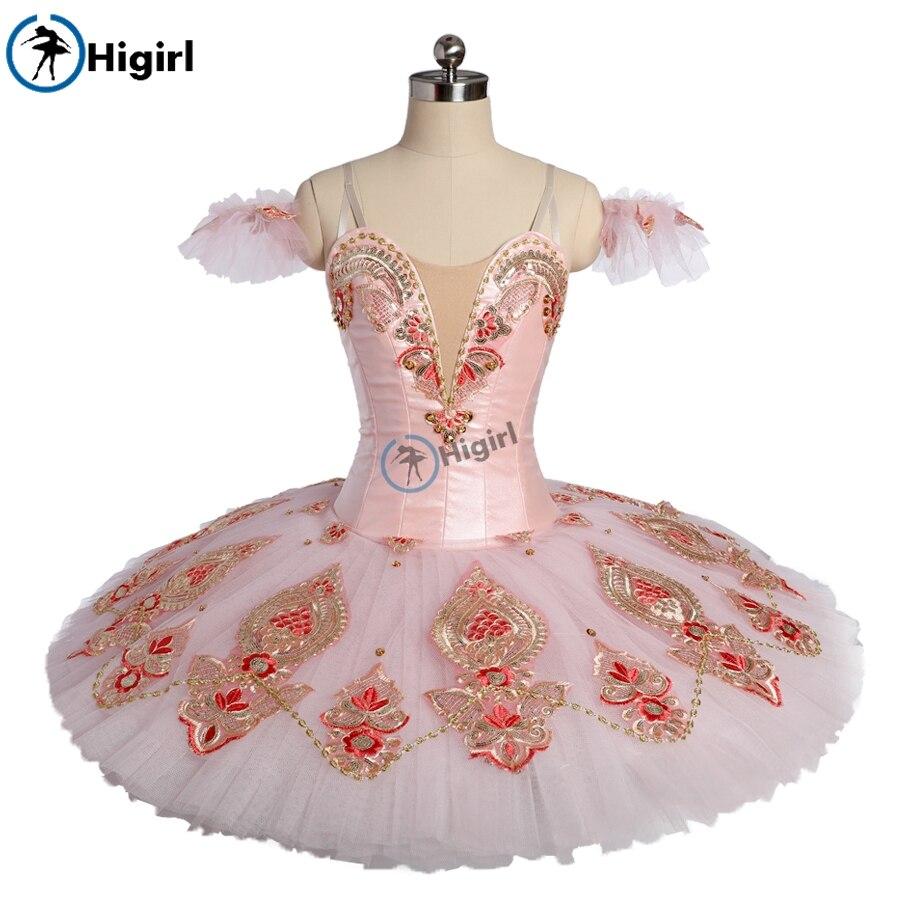 Adulto zucchero plum fata tutu di balletto Professionale Oro rosa pancake tutu del pannello esterno costumi di danza classica schiaccianoci BT9176
