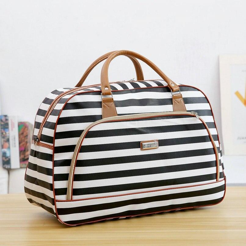 Image 2 - Women Travel Bags 2019 New Fashion PU Leather Large Capacity Waterproof Print Luggage Duffle Bag Men Casual Travel Bags LGX28-in Travel Bags from Luggage & Bags