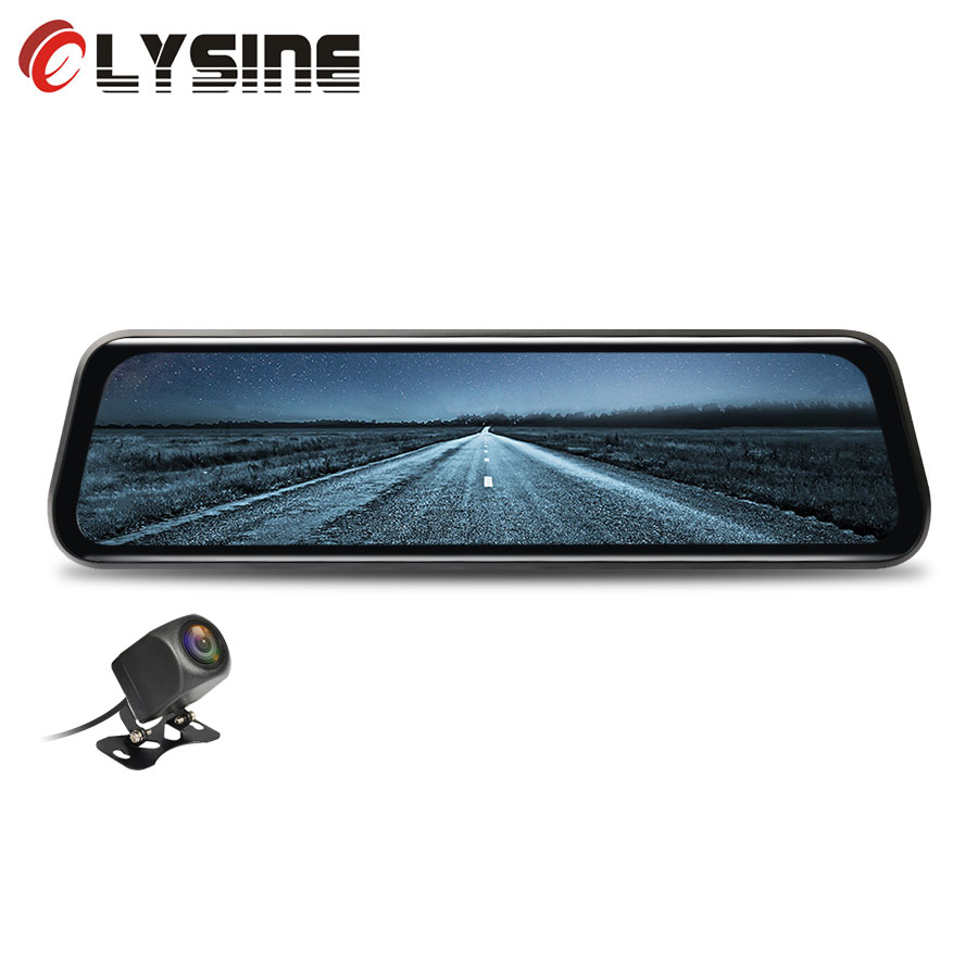 Olysine 10 IPS Touch Dashcam Full HD 1080P Car DVR Stream Media Rearview Mirror Recorder Dash
