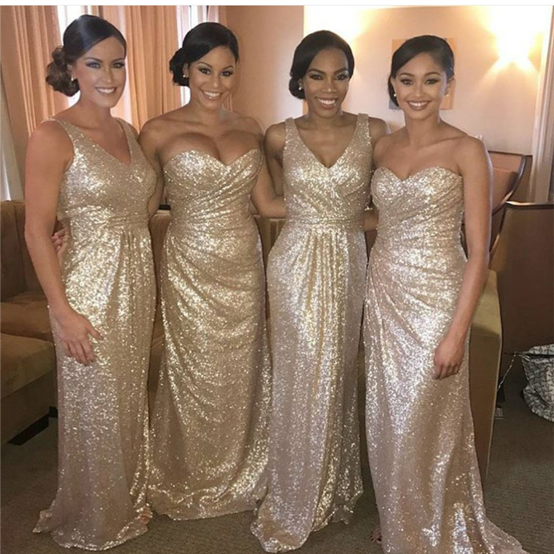 Navy And Gold Bridesmaid Dresses Fashion