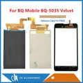 5,0 дюймов для мобильного BQ-5035 BQ Velvet BQ 5035 BQS 5035 раздельный ЖК-дисплей + сенсорный экран дигитайзер черного золота с лентой