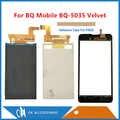 5.0 Polegada Para BQ Móvel BQ-5035 Veludo BQ 5035 BQS 5035 Separado Ouro Display LCD + Touch Screen Digitador Preto com Fita