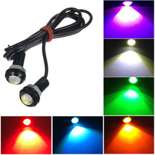 1 Pcs Car LED Eagle Eye Lights Lamp DC 12V 18mm Hawkeye Reverse Backup DRL Fog Light Daytime Running Car Lights Signal Bulb(China)