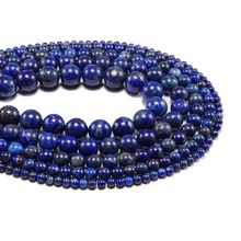 AAA Natural Stone Beads Bule Lapis Lazuli Stone Round Loose Blove DIY Bracelet Material 4 6 8 10 12mm Beads for Jewelry Making wholesale 12 18 mm stick shape lapis lazuli blue stone beads for jewelry making diy necklace bracelet material strand 15