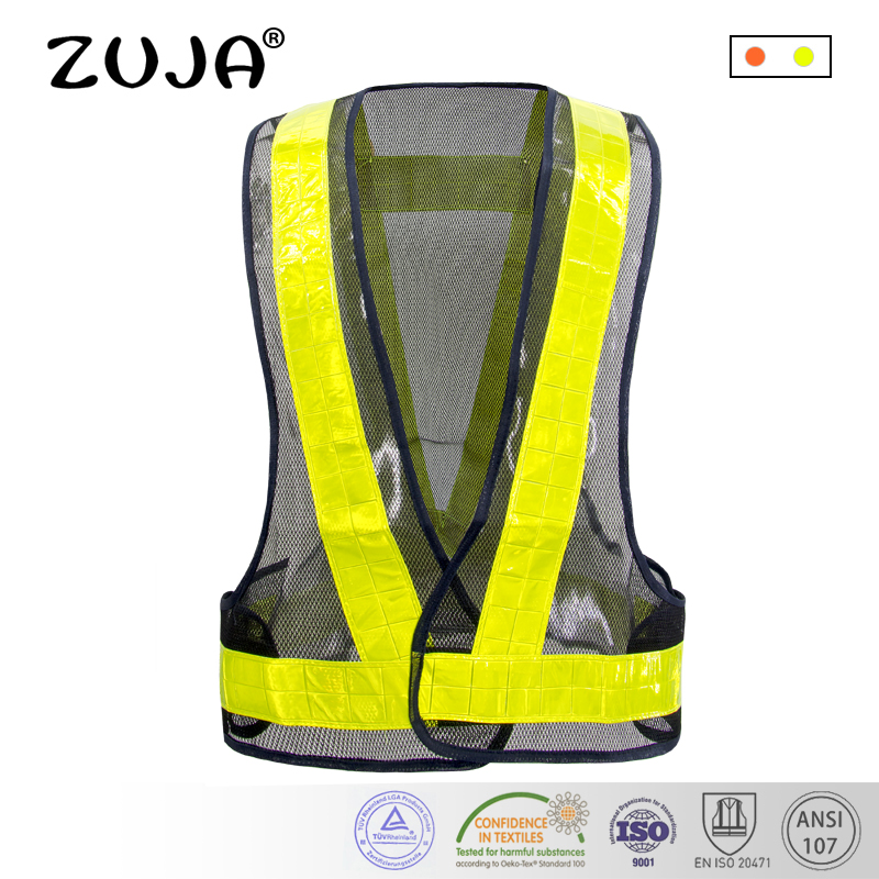 Security & Protection Workplace Safety Supplies Safety Vest Mesh Vest Traffic Fluorescent Breathable Adjustable Pvc Tape
