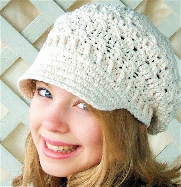 Xl Size New Toddler Hat Spring Beanie Womens Newsboy Hat Crochet