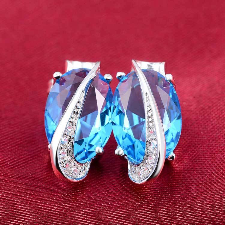 Moonso 925 vathë argjendi të pastër Dy Dhurata Stud Earing Vathë brinco për gra bizhuteri fejesë martese E689