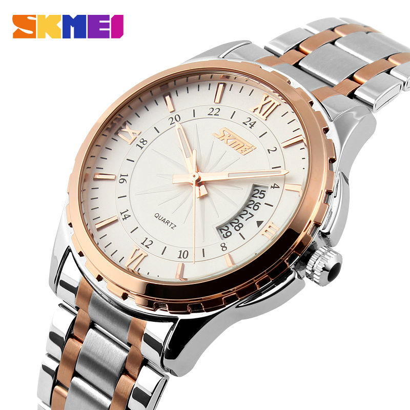 SKMEI 9069 Homens Relógio de Quartzo Homens de Aço Completa relógios de Pulso Dive 30 M Moda Sport Watch relogio masculino 2018 Marca de Luxo relógios