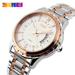 SKMEI 9069 Men Quartz Watch Men Full Steel Wristwatches Dive 30M Fashion Sport Watch relogio masculino 2018 Luxury Brand Watches