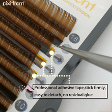 Lashes 16rows Brown Eyelashes Mink Lashes, Brown Fake False Eyelashes Individual Colored Eye Lash Extensions Volume big eye s secret professional premade volume lash extensions individual eye lashes pre made fans false eyelashes
