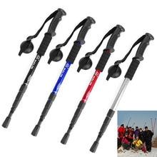 Portable AntiShock Hiking Trekking Walking Pole Adjustable Cane Stick Crutch Hot
