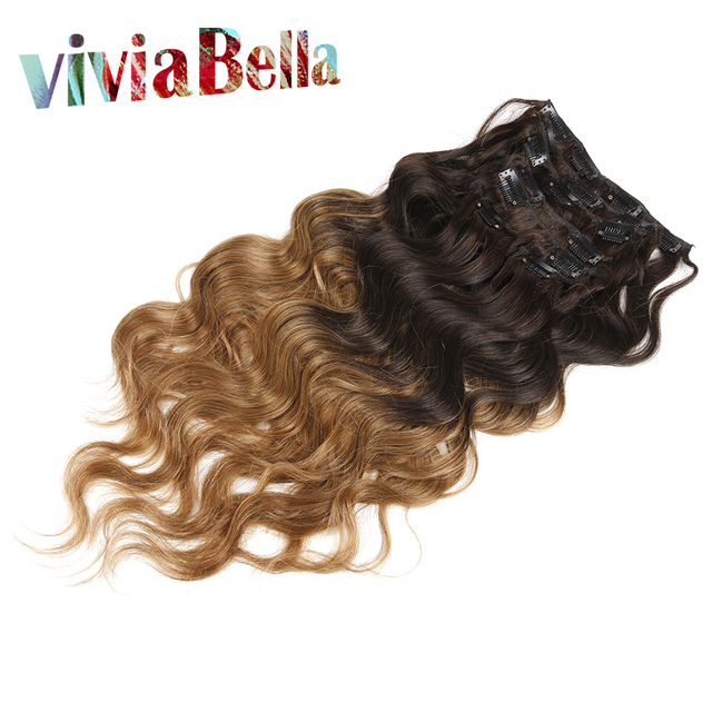 Queen Hair Brazilian Body Wave Clip In Hair Extensions 7pcs 100g