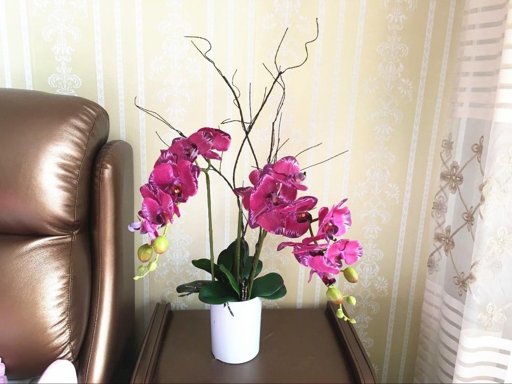 70 см Искусственный высушенная ветка, украшенные цветами