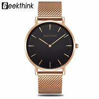 Top Luxury Brand Quartz Watch Men S Rose Gold Japan Stainless Steel Mesh Band Wrist Watch