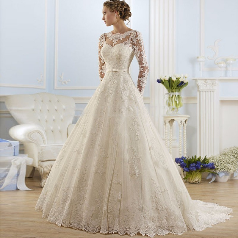 Online Get Cheap Winter Long Sleeve Wedding Dresses