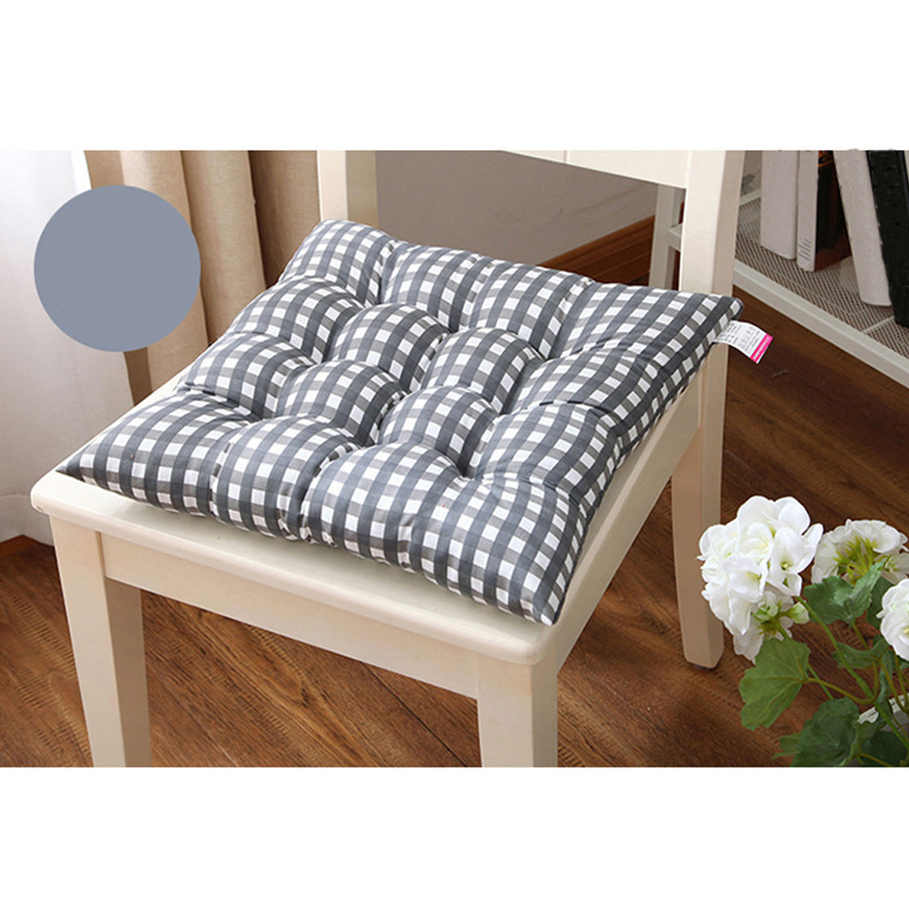 40*40cm Soft Plaid Cushion Indoor Home Kitchen Office