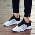 Men Shoes 2016 Hot Sale Men Casual Shoes Rubber Lace Up Wedge Massage Zapatillas Hombre Breathable Shoes Solid Tenis Feminino