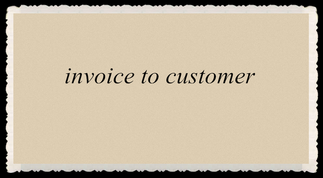 invoice for customer