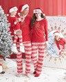 Рождество Семья Пижамы Набор Дети Женщины Мужчины Хлопок Пижамы Пижамы Пижамы Костюмы Письмо Печати Рождество Пижамы Наборы 22
