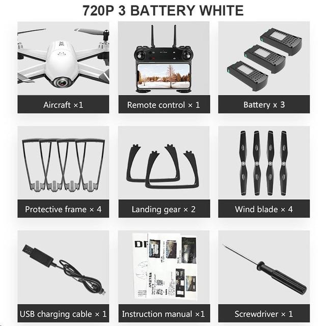 720P 3 Battery White