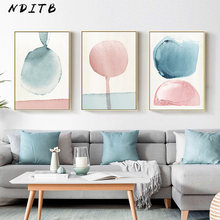 Watercolor Geometric Art Canvas Poster Abstract Painting Minimalist Print Nordic Decoration Wall Picture for Living Room Decor(China)
