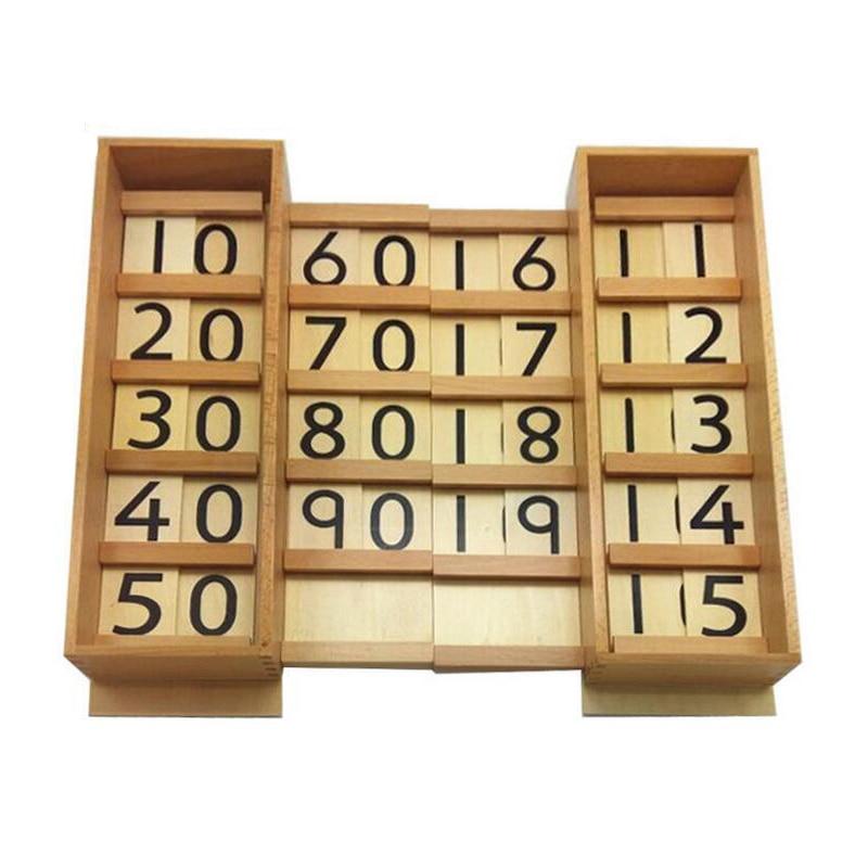 ФОТО Original Professional Montessori Materials Family Preschool Children Mathematics Teaching Aids Kid Educational Number Wooden Toy