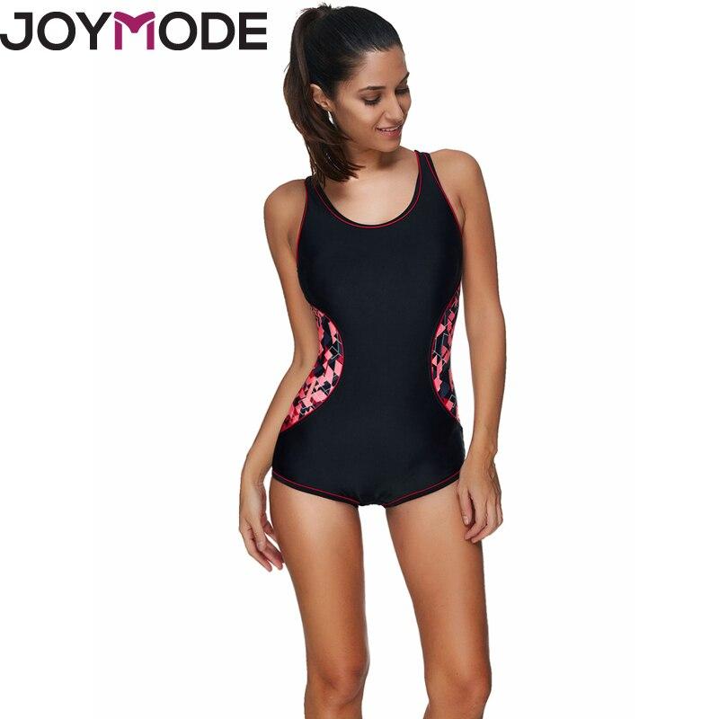 купить JOYMODE One Piece Swimsuit Sport Swimwear Women 2017 New Swimming Bodysuit Backless Beach Wear Bathing Suits Swim Monokini -F недорого