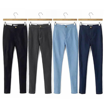 Women Fashion Casual High Waist Jeans Ladies Sexy Slim Elastic Skinny Pants New Fashion Women's Penc