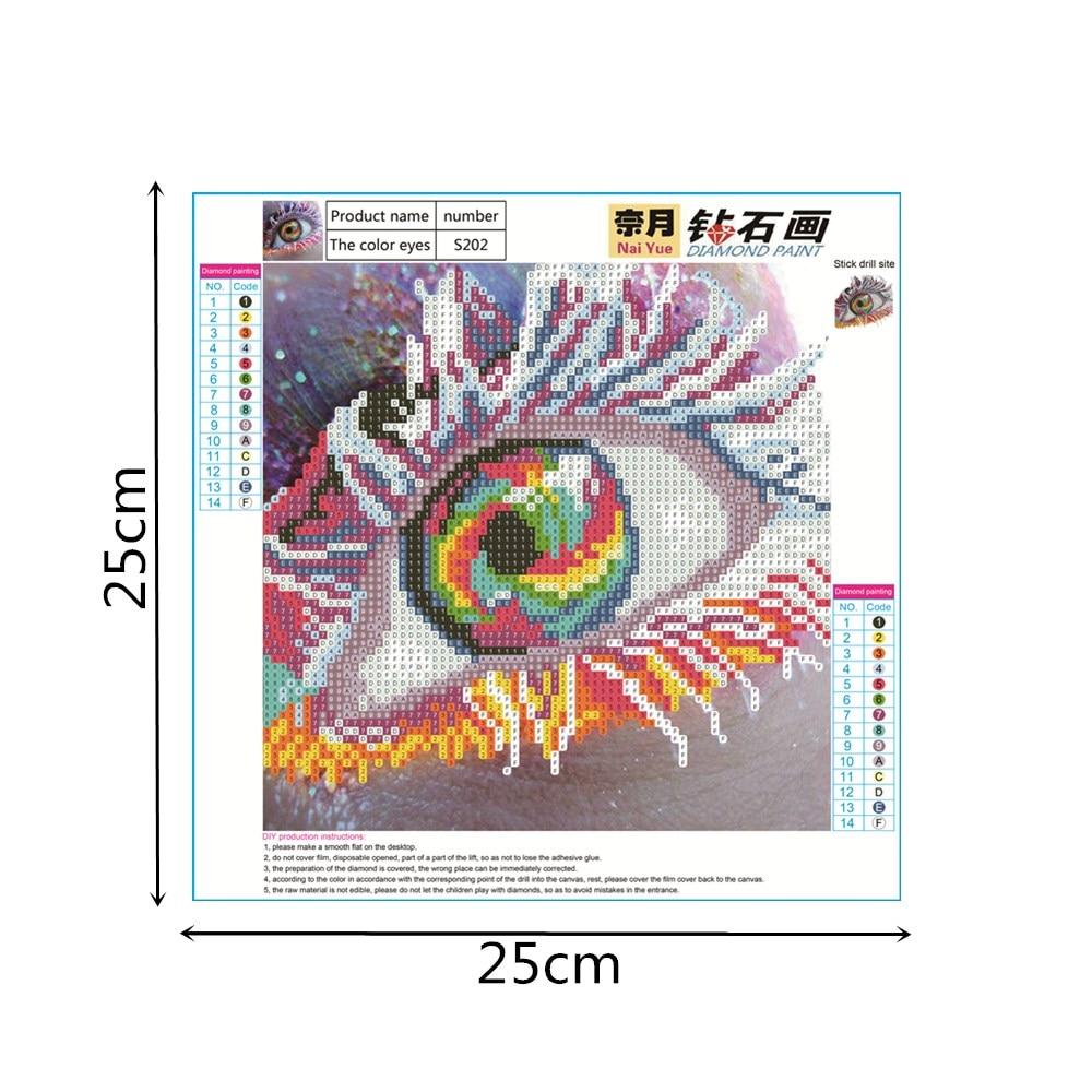 Nai Yue Time Limited Basket Round Diamond Painting Colorful Eye Draw