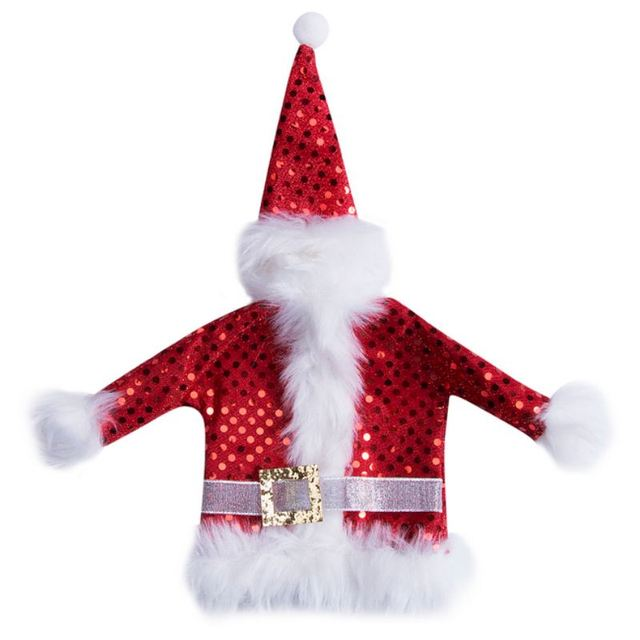 christmas santa wine bottle cover hat sweater table party decor xmas ornaments 1 pcs