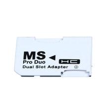 Speicher Karte Adapter 2 microSD/micro SDHC Karten Adapter Micro SD TF auf Memory Stick MS Pro Duo für PSP Karte Weiß
