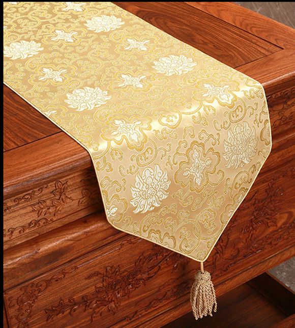 Rustic Ethnic Fancy Damask Table Runner Rectangle Dining Table Pads - Rectangle table pad