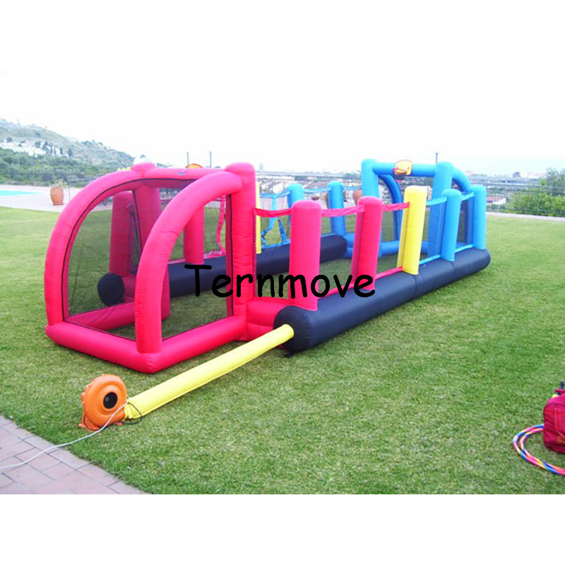 inflatable football field,Football table Human Football Court Kids castle sport playground 8*3.3m mini inflatable soccer field
